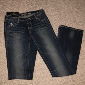 Rock 47 By Wrangler Jeans Low Rise Sz 1 x 36 long